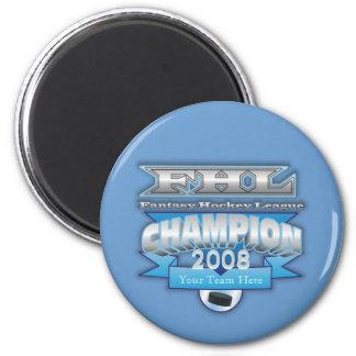 Fantasy Hockey Champ 6 Cm Round Magnet