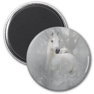Fantasy Horse 6 Cm Round Magnet