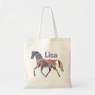 Fantasy Horse Monogram Budget Tote Bag