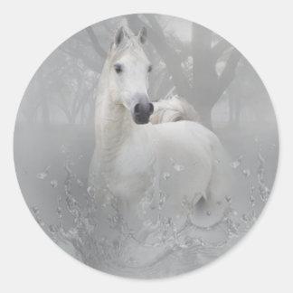 Fantasy Horse Round Sticker