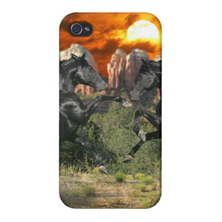 Fantasy Horses: Black Magic Case For The iPhone 4