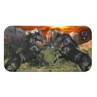 Fantasy Horses: Black Magic iPhone 4/4S Cases
