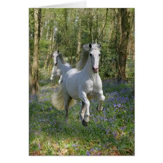 Fantasy Horses: Bluebell Wood Card