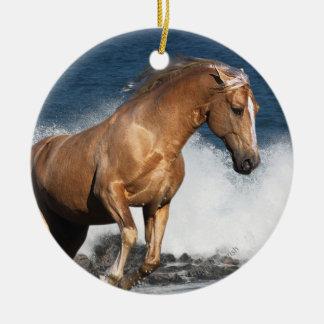Fantasy Horses: Summer Splash Round Ceramic Decoration