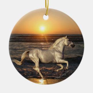 Fantasy Horses: Sunset Christmas Ornament