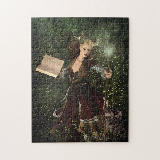 fantasy illustration: demon woman jigsaw puzzle