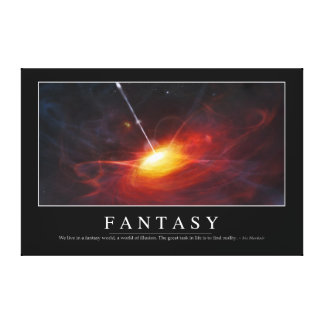 Fantasy: Inspirational Quote Canvas Print