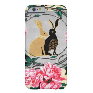 Fantasy Jackrabbit Hares Rose Romantic Collage Barely There iPhone 6 Case