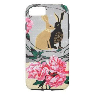 Fantasy Jackrabbit Hares Rose Romantic Collage iPhone 7 Case