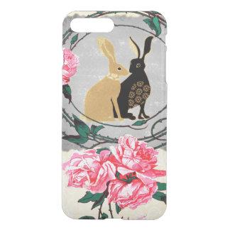 Fantasy Jackrabbit Hares Rose Romantic Collage iPhone 7 Plus Case