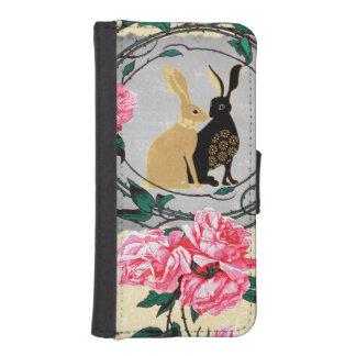 Fantasy Jackrabbit Hares Rose Romantic Collage iPhone SE/5/5s Wallet Case