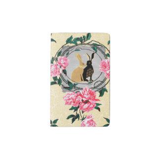Fantasy Jackrabbit Hares Rose Romantic Collage Pocket Moleskine Notebook