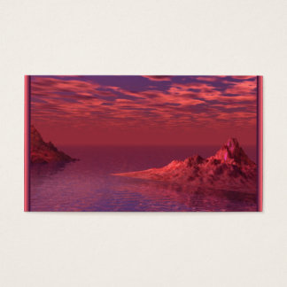 Fantasy Landscape - Mountains at Dawn Business Card
