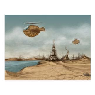 Fantasy landscape postcard