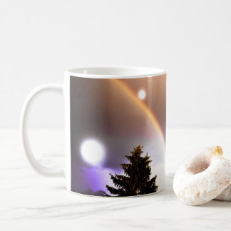 Fantasy Lights Northern Forest Sky at Night Coffee Mug