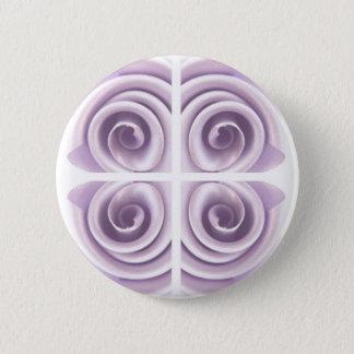 Fantasy Lilac Rose Swirls 6 Cm Round Badge