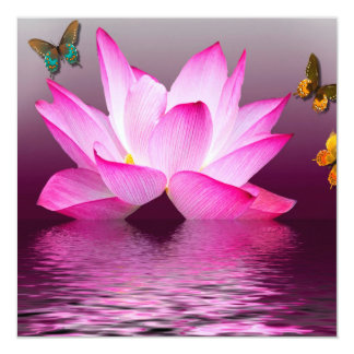 Fantasy Lotus Flower Card