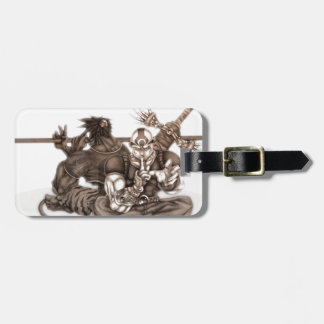 Fantasy Manga Warriors Luggage Tag