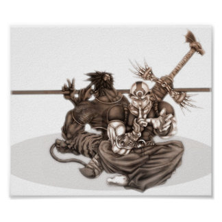 Fantasy Manga Warriors Poster
