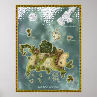 Fantasy Map Of Darnyan Poster