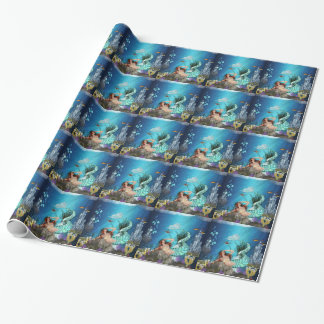 Fantasy Mermaid Glossy Wrapping paper