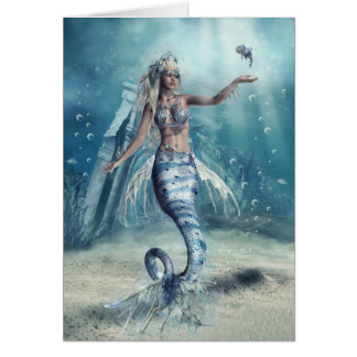 Fantasy Mermaid Greeting Card