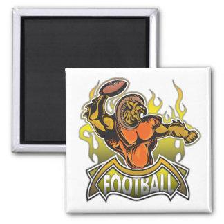 Fantasy Monster Football Square Magnet