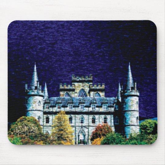 Fantasy night castle mousepad