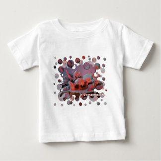fantasy of fantastic nature with bubbles sunset baby T-Shirt