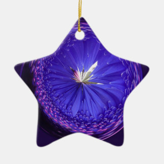 Fantasy orb in blue christmas ornament