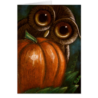 FANTASY OWL - A PUMPKIN FOR ME GREETING CARD