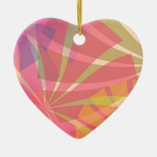 Fantasy Pattern Ceramic Heart Decoration