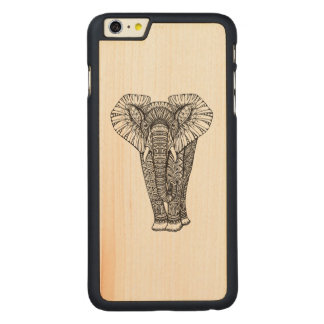 Fantasy Patterned Elephant Doodle Carved® Maple iPhone 6 Plus Case