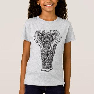 Fantasy Patterned Elephant Doodle T-Shirt