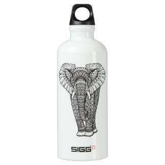 Fantasy Patterned Elephant Doodle Water Bottle