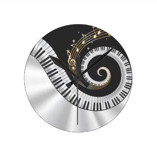 Fantasy Piano Music Lovers Wall Clock