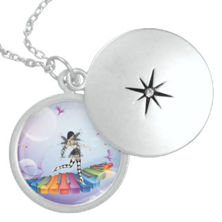 Fantasy Piano Nymph Sterling Silver Locket N