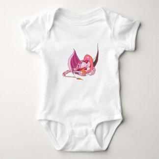 Fantasy Pink Dragon.png Baby Bodysuit
