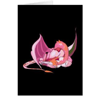 Fantasy Pink Dragon.png Greeting Card