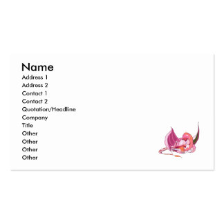 Fantasy Pink Dragon.png Pack Of Standard Business Cards