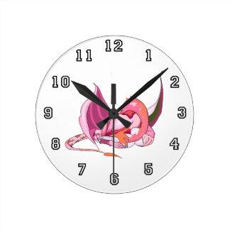 Fantasy Pink Dragon.png Wallclock