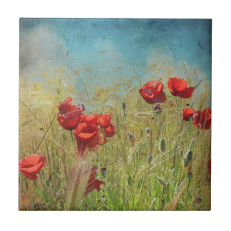 Fantasy poppies tile
