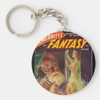 Fantasy_Pulp Art Basic Round Button Key Ring