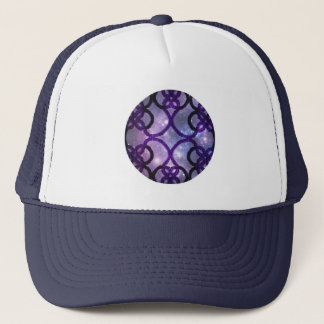 Fantasy Purple Tatting Lace Night Sky Trucker Hat