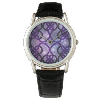 Fantasy Purple Tatting Lace Night Sky Watch