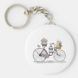 Fantasy push bike basic round button key ring