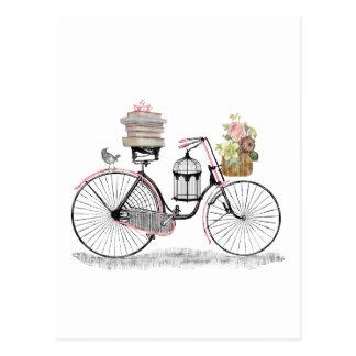Fantasy push bike post cards