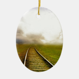 Fantasy railroad christmas ornament