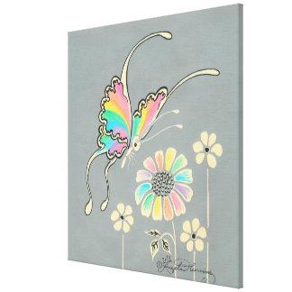 Fantasy Rainbow Butterfly Canvas Print