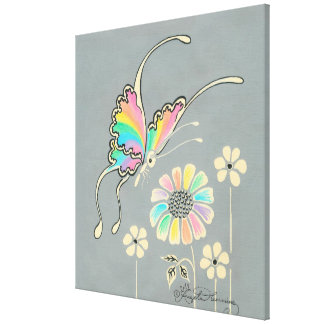 Fantasy Rainbow Butterfly Canvas Prints